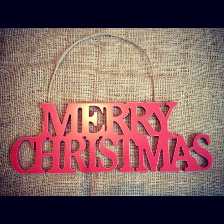 Red Hanging Merry Christmas Sign